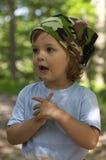 Portret in het bos Royalty-vrije Stock Afbeeldingen