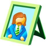 Portret in het frame Stock Foto