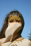 Portret het meisje in oosters kostuum Stock Fotografie