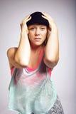 Portret hip hop tancerz Fotografia Royalty Free