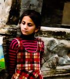 Portret Hunza kobieta w krajowym kostiumowym Karimabad Pakistan Fotografia Stock