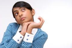 Portret Indiańska ładna dziewczyna Zdjęcia Stock