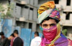 Portret Indiański młody człowiek z turbanem Obrazy Royalty Free