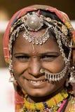 Portret India Rajasthani kobieta Obrazy Stock