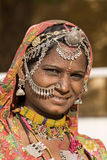 Portret India Rajasthani kobieta Fotografia Royalty Free