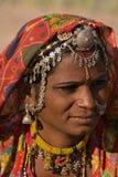 Portret India Rajasthani kobieta Obraz Royalty Free