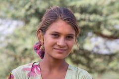 Portret Indiańska dziewczyna, Pushkar indu Zdjęcia Stock
