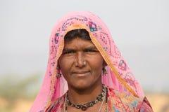 Portret Indiańska kobieta, Pushkar indu Zdjęcie Royalty Free