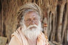 Portret indianina Sadhu baba, Obraz Royalty Free