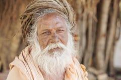 Portret indianina Sadhu baba, Fotografia Stock
