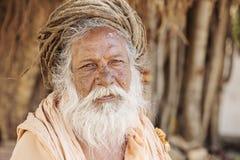 Portret indianina Sadhu baba, Obrazy Stock