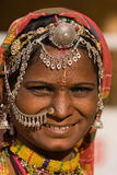 Portret Indische vrouw Royalty-vrije Stock Afbeelding