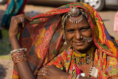 Portret Indische vrouw Royalty-vrije Stock Foto