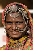 Portret Indische vrouw Stock Afbeelding