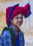 Portret Intha plemienia kobieta w Myanmar Obrazy Royalty Free