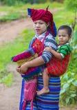 Portret Intha plemienia kobieta w Myanmar Obraz Stock