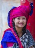 Portret Intha plemienia kobieta w Myanmar Fotografia Royalty Free