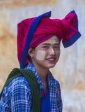 Portret Intha plemienia kobieta w Myanmar Fotografia Stock