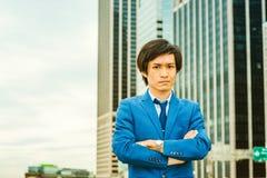 Portret Japoński młody człowiek w Nowy Jork Fotografia Stock