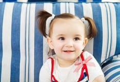 Portret jeden roczniaka dziecko salowy Zdjęcie Royalty Free