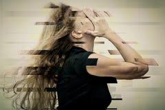Portret jeden smutna kobieta zdjęcie royalty free