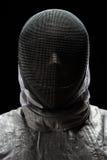 Portret jest ubranym maskę Męski szermierz Zdjęcie Stock
