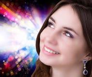Portret jong meisje Gezond de Huidface stock foto's