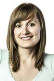 Portret jonge lachende vrouw Royalty-vrije Stock Foto's