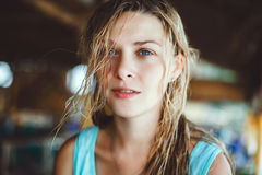 Portret jonge vrouw, Royalty-vrije Stock Afbeelding