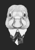 Portret kaczka w kostiumu Zdjęcie Royalty Free