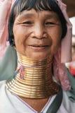 Portret Karen szyi długa kobieta od Myanmar Zdjęcia Royalty Free