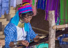 Portret Kayan plemienia kobieta w Myanmar Zdjęcie Stock