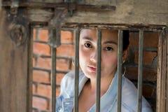 Portret kobiet czuć smutny Pojęcie depresja zdjęcie stock