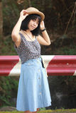 Portret kobiet drogi plenerowa strona Fotografia Royalty Free