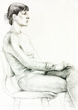Portret kobieta royalty ilustracja