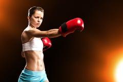 Portret kobieta bokser Obrazy Stock
