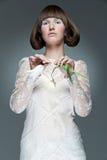 portret kobieta elegancka tulipanowa obrazy royalty free