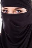 Portret kobieta jest ubranym maskę Zdjęcie Stock
