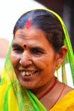 Portret kobieta odwiedza Agra fort, Uttar Pradesh, India Obraz Royalty Free