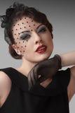 portret kobieta retro stylowa Fotografia Stock