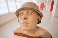 Portret kobieta - Rzeźbi Czechoslovak artystą Otto Gutfreund przy national gallery na Sierpień 26 2015 Obraz Royalty Free