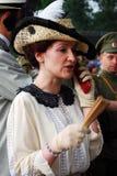 Portret kobieta w dziejowym kostiumu Obrazy Stock