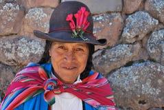 Portret kobieta w Pisac obrazy stock
