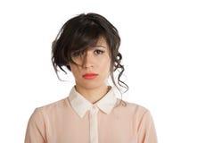 Smutny brunetka Obrazy Stock