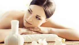 Portret kobieta w zdroju Masaż lecznicza procedura Obraz Stock