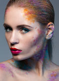 Portret kobieta z kreatywnie makeup Obrazy Royalty Free