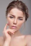 Portret kobieta z naturalnym makijażem obraz royalty free