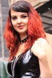 Portret kobiety czerwieni gothic włosy Obrazy Stock