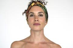 Portret kobiety kobiety modela Pracowniany pojęcie Zdjęcie Stock