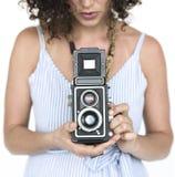 Portret kobiety kobiety Pracowniany model Zdjęcia Stock